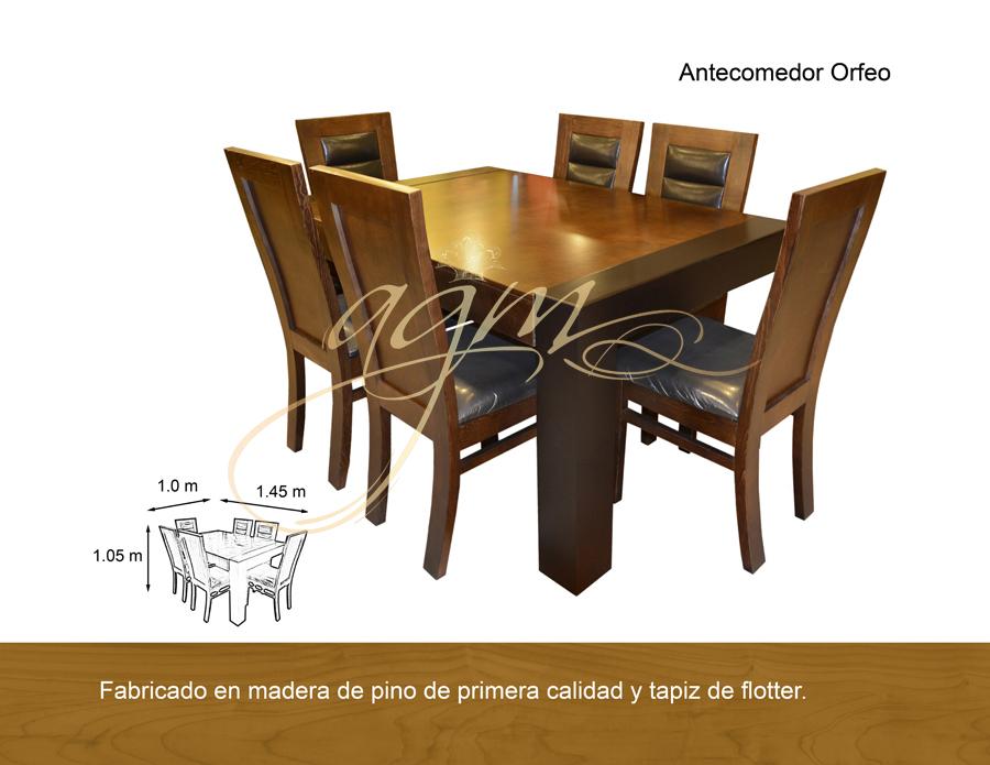 ANTECOMEDOR ORFEO 6 SILLAS