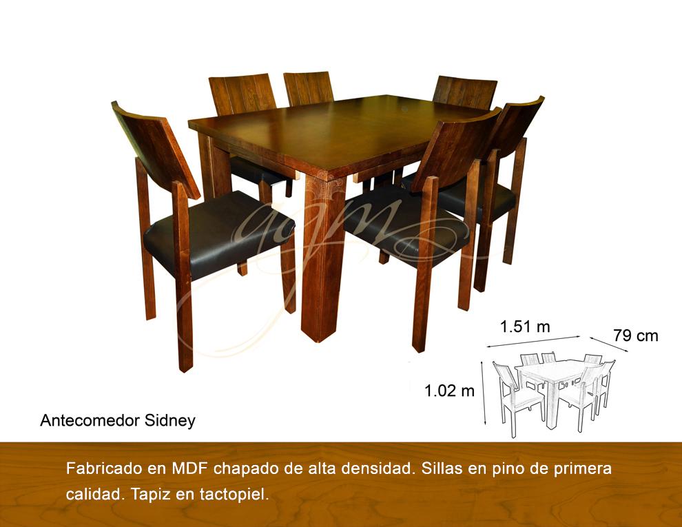 Antecomedor sidney 6 sillas antigua galeria del mueble - Galeria del mueble ...