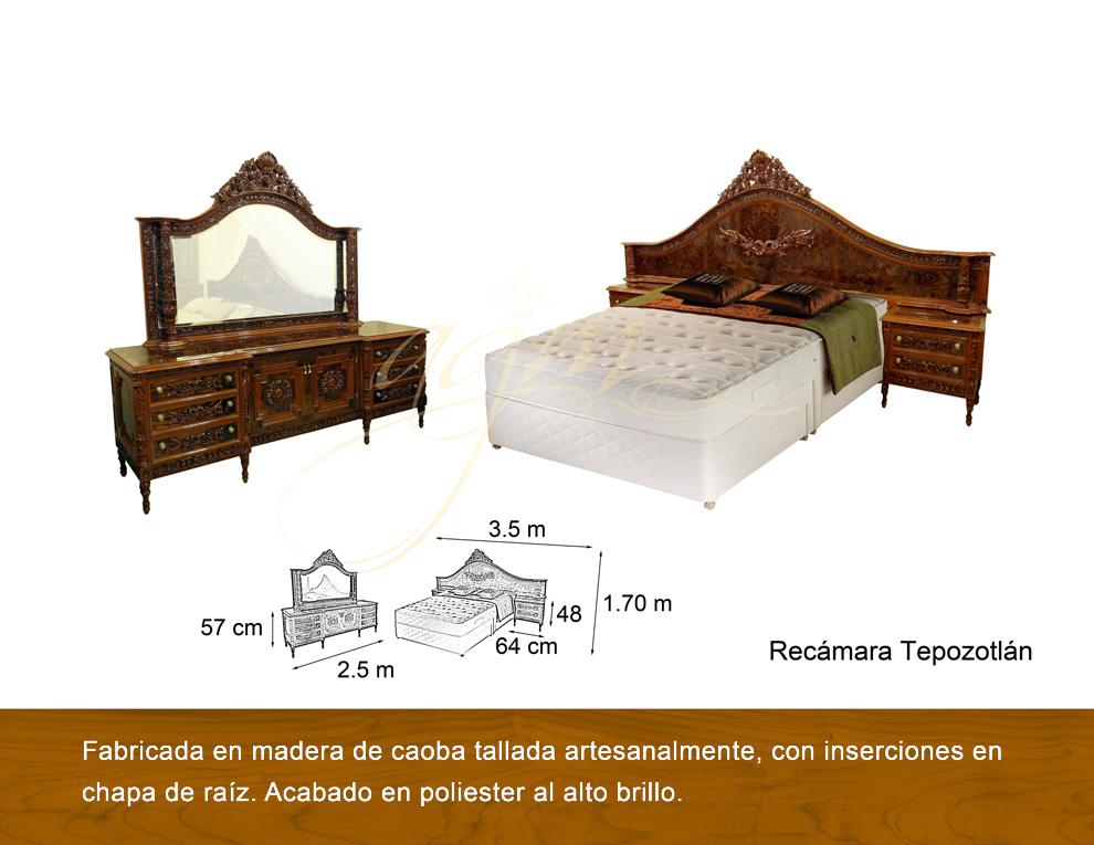 Recamara tepozotlan antigua galeria del mueble - Galeria del mueble ...