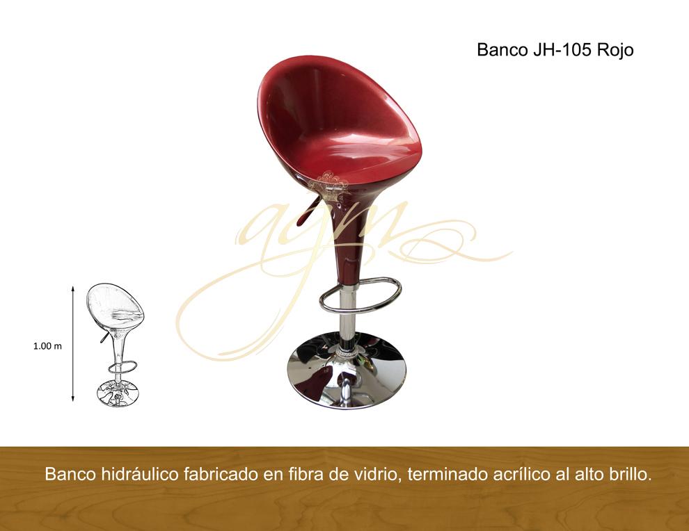 BANCO JH-105 ROJO