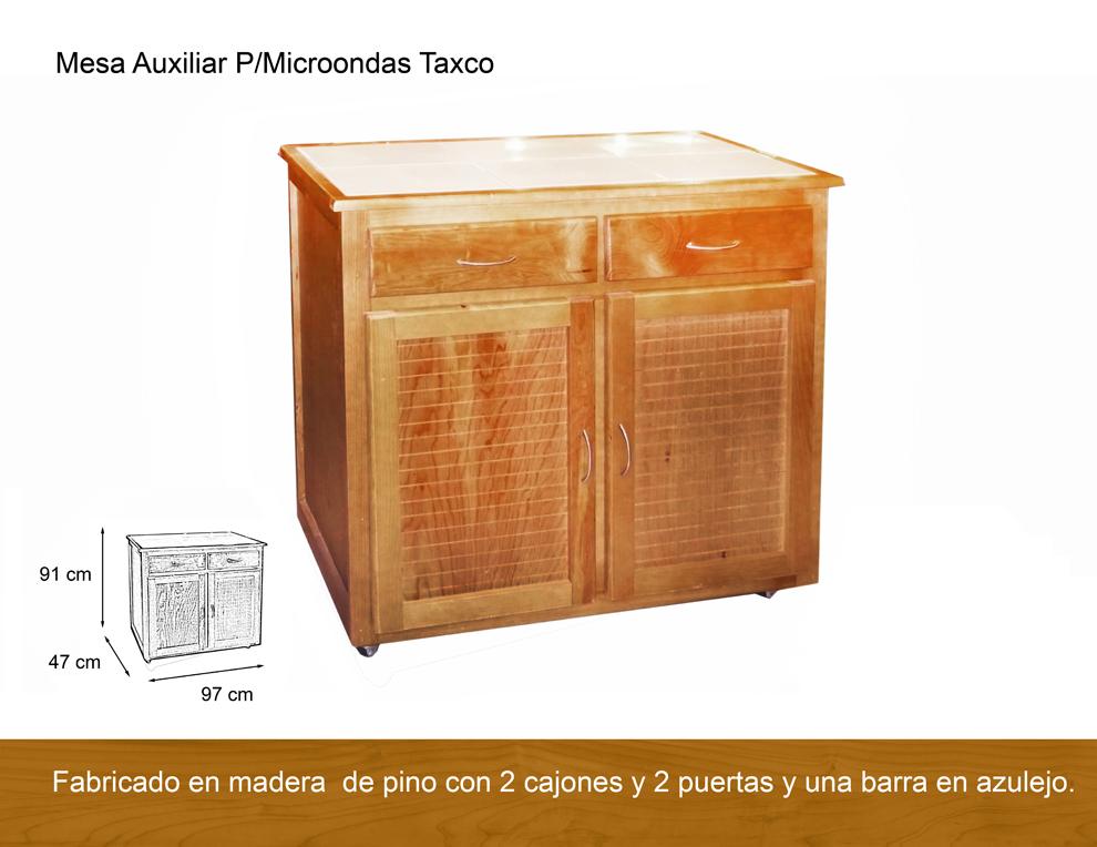 Mesa auxiliar para microondas taxco antigua galeria del - Mesas para microondas ...