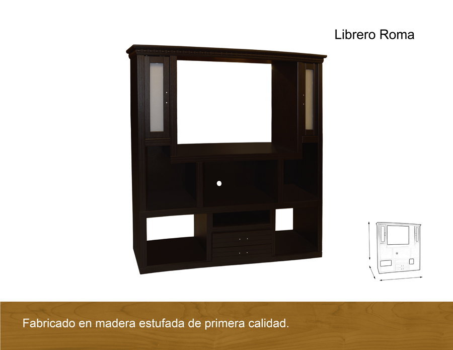 Librero roma antigua galeria del mueble - Galeria comercial del mueble arganda ...