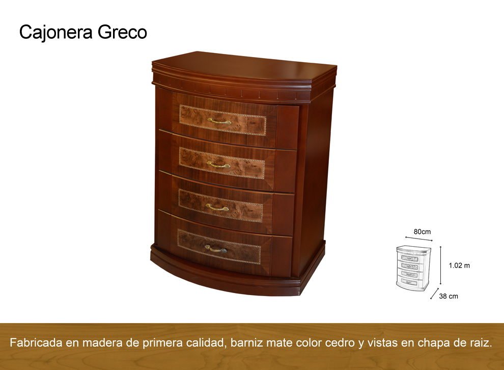 Cajonera greco antigua galeria del mueble - Galeria del mueble ...